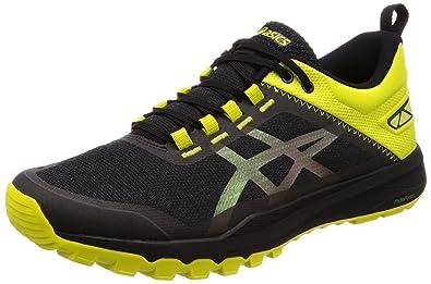 ae1145a9064 ASICS Men's Gecko XT Black/Carbon/Sulphur Spring Trail Running Shoes-7 UK