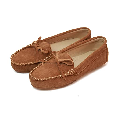 Eastern Counties Leather Mocasines de ante para mujer: Amazon.es: Zapatos y complementos