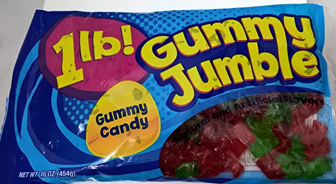 fa98c04f6b5f8 Ferrara Candy Company Gummy Jumble Candy 454g Bag: Amazon.co.uk: Grocery