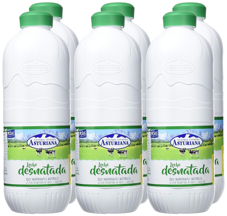 Central Lechera Asturiana Leche Desnatada - Paquete de 6 x 2200 ml - Total: 13200 ml: Amazon.es: Amazon Pantry