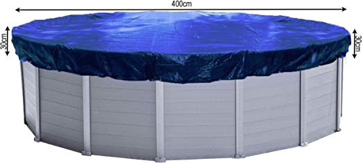 QUICK STAR Quickstar B/âche de Piscine Ronde /Ø 460 cm pour Piscine 366-400 cm de diam/ètre B/âche dhiver 180 g//m/² Bleu
