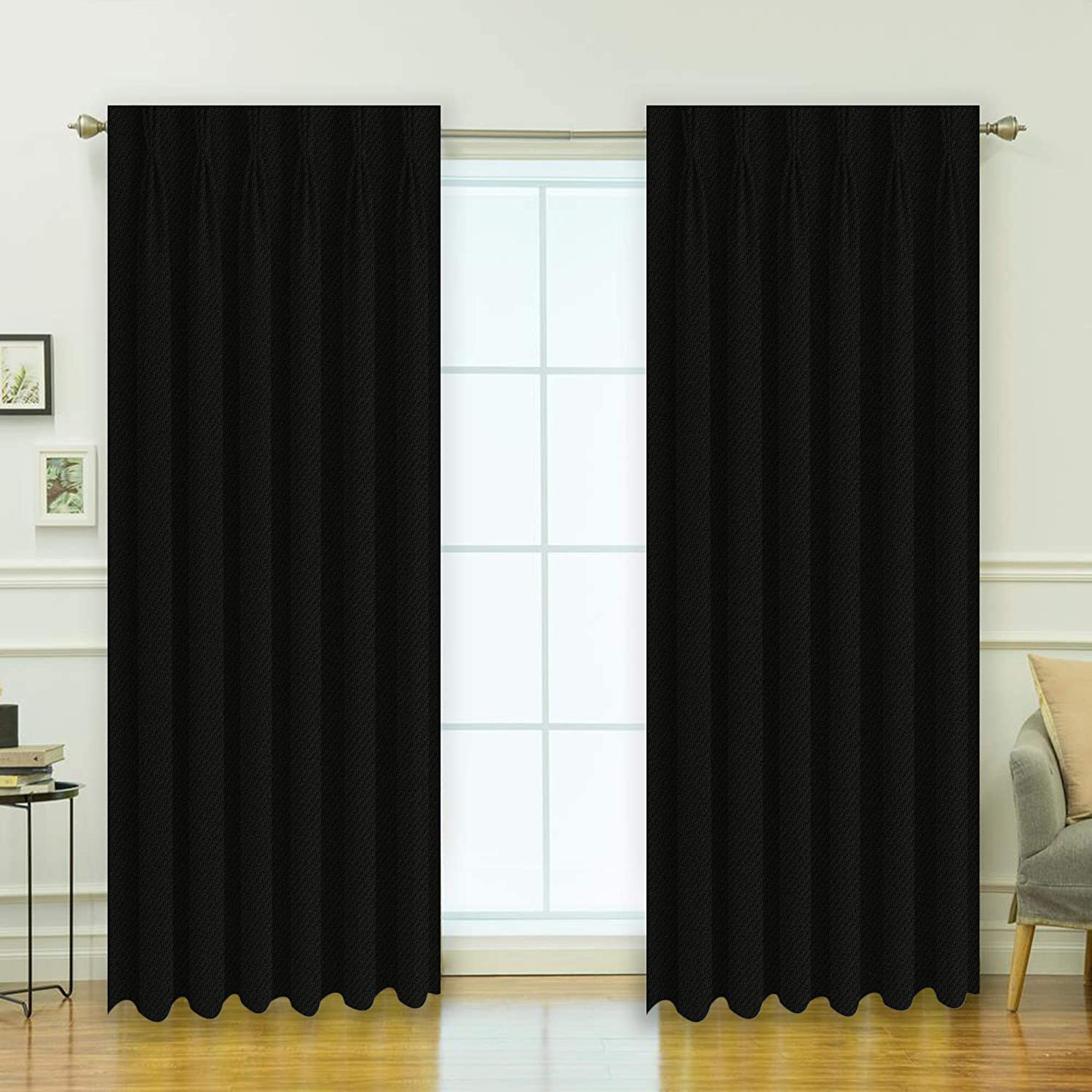 Buy Kurtains2fly Polyester Both Sided Room Darkening Blackout Pinch Pleat  Curtains 2 Panels (Window- 4.5 x 6 ft) Online at Low Prices in India -  Amazon.in