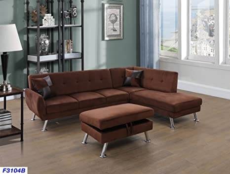 Prime Beverly Fine Furniture Sectional Sofa Chaise Set Chocolate Brown Cjindustries Chair Design For Home Cjindustriesco