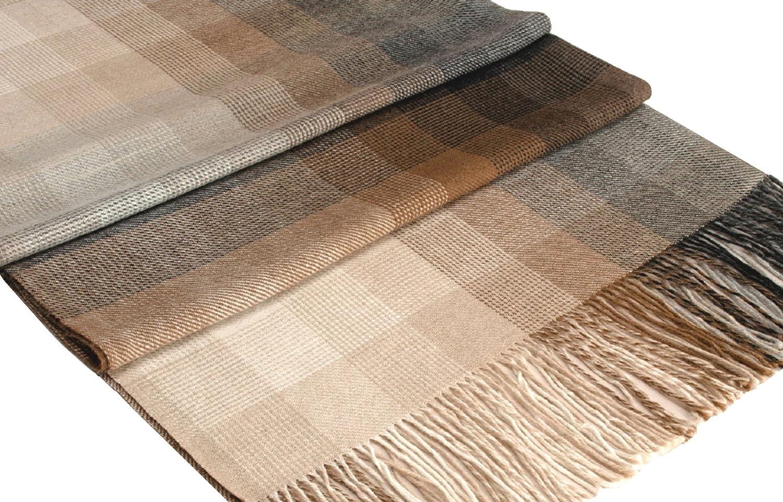 Lorenzo Cana Premium Alpakadecke 100% Alpaka Fair Trade Decke Wohndecke handgewebt Sofadecke Tagesdecke Kuscheldecke 9603177