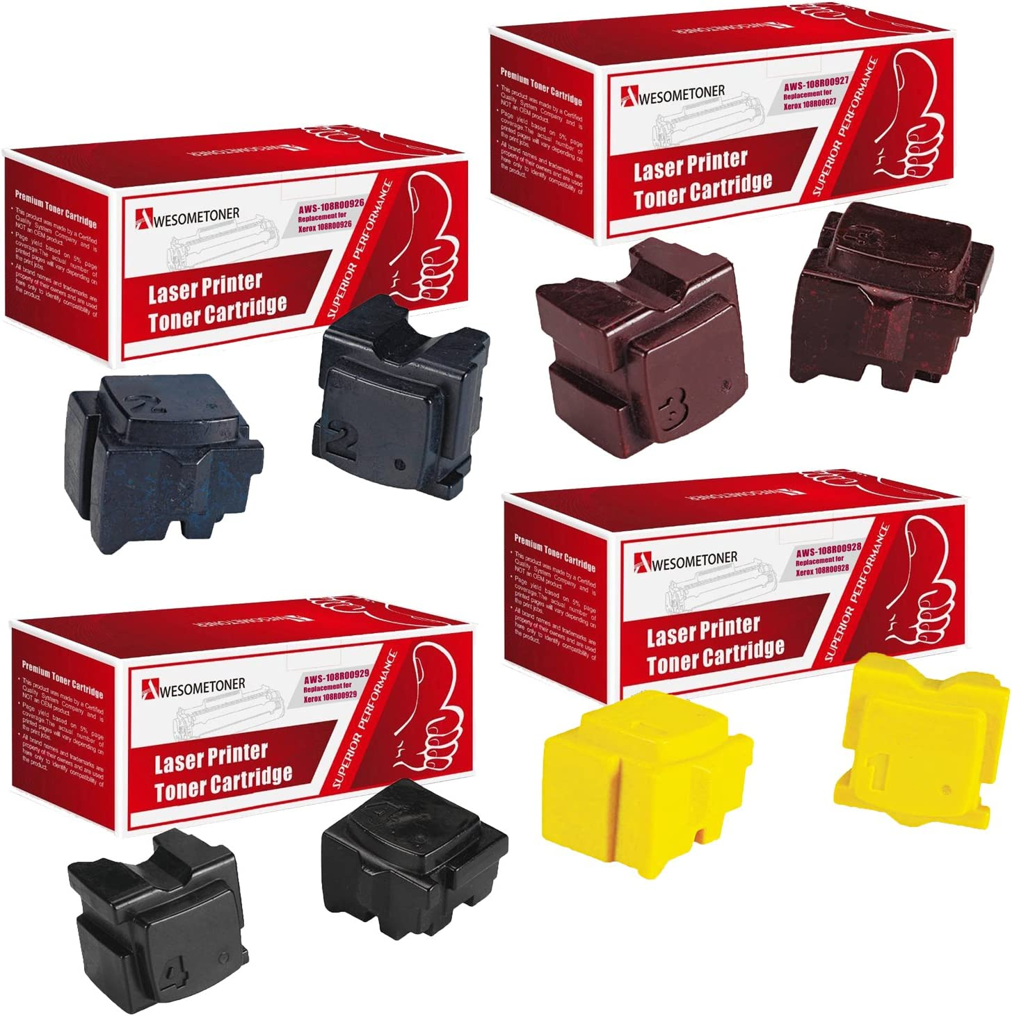 Awesometoner Compatible 2//Box 108R00929 Solid Ink for Xerox ColorQube 8570 8570DN 8570DT 8570N High Yield 4300 Pages
