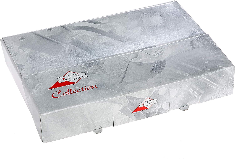 Scatola da 50 fogli piegati carta regalo metallizzata 70cm x 100cm motivo primavera estate