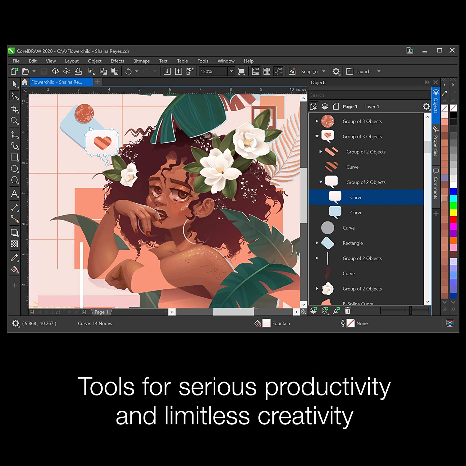 Amazon Com Coreldraw Graphics Suite 2020 Graphic Design Photo And Vector Illustration Software Amazon Exclusive Includes Free Particleshop Brush Pack Pc Download Software