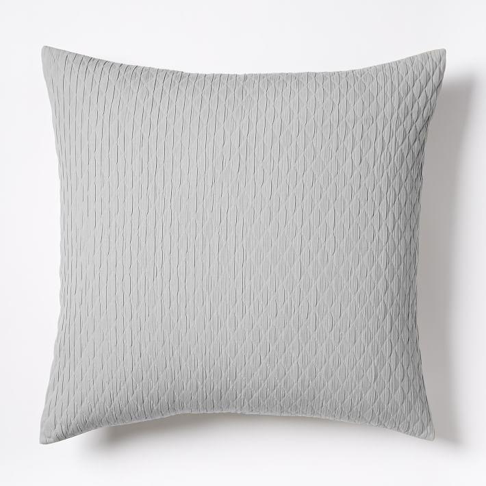 Ripple Texture Euro Sham - Platinum | west elm