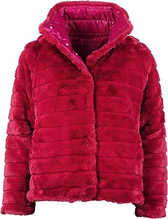 Maze Fake Fur Chaqueta Reversible para Mujer: Amazon.es