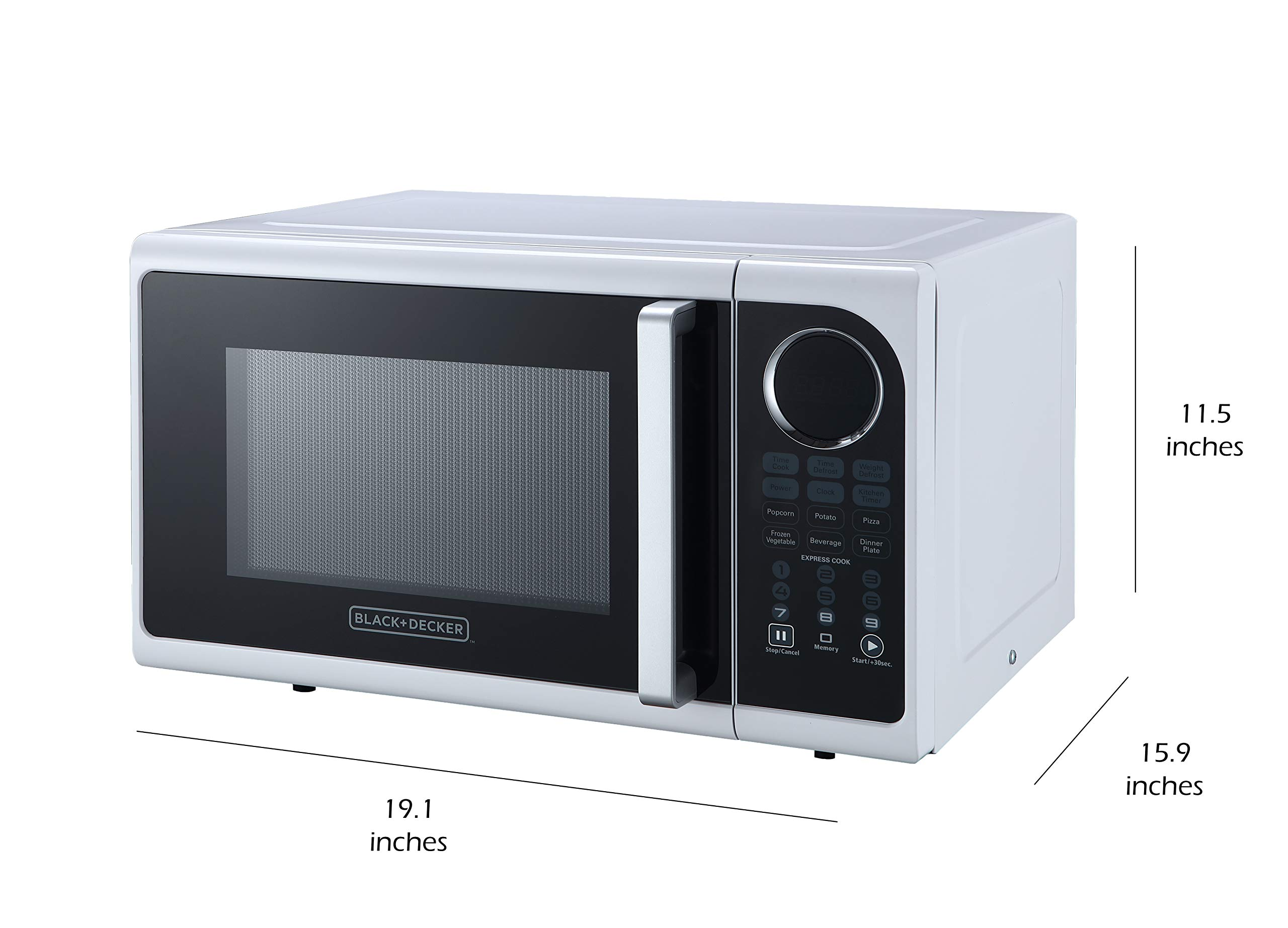 Black+Decker EM925ACP-P1 0.9 Cu. Ft. Digital Microwave, White by BLACK+DECKER (Image #6)
