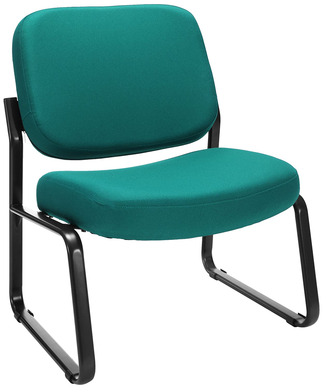 amazoncom ofm big and tall upholstered armless guest reception chair black industrial u0026 scientific