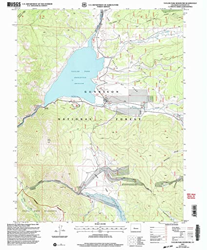 Taylor Park Colorado Map.Amazon Com Taylor Park Reservoir Co Topo Map 1 24000 Scale 7 5 X