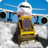 Airport Ground Staff Snow Plow