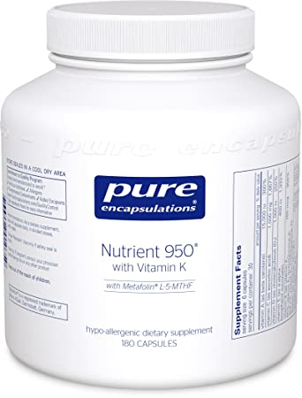 Magnus Pure Encapsulations Nutrient 950 With Vitamin K (Without Iron) Reviews