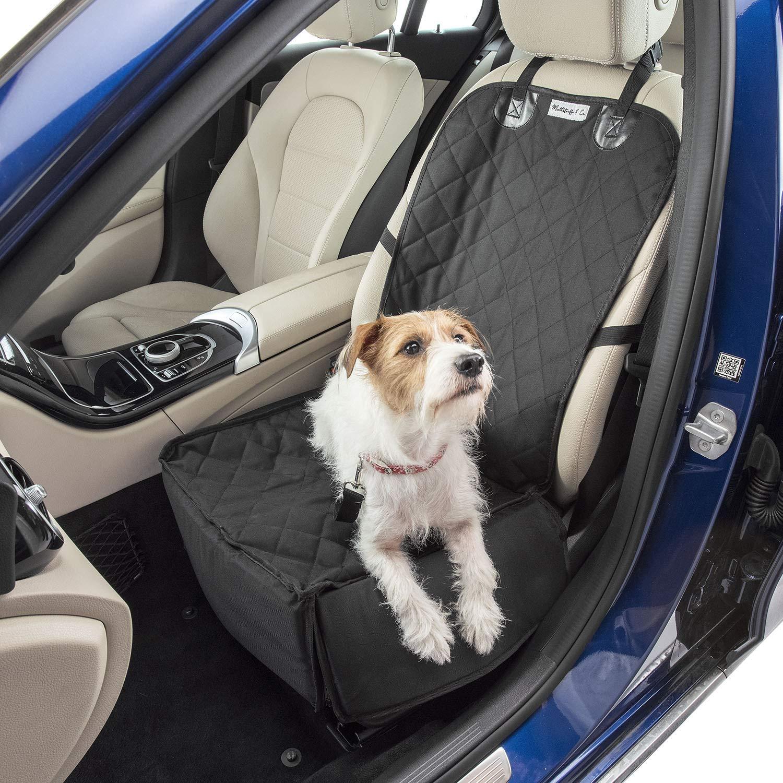 Accesorios de Viaje MuttStuff /& Co Funda para Asiento de Coche de Perro con Solapas Plegables para Cubrir Toda la Parte Delantera o una peque/ña Hamaca con Paredes Resistentes