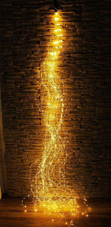 Arnusa LED Lichterbündel XXL mit 1440 LED'S Lichterkette Lichterdraht 45 Stränge Weihnachtsbeleuchtung