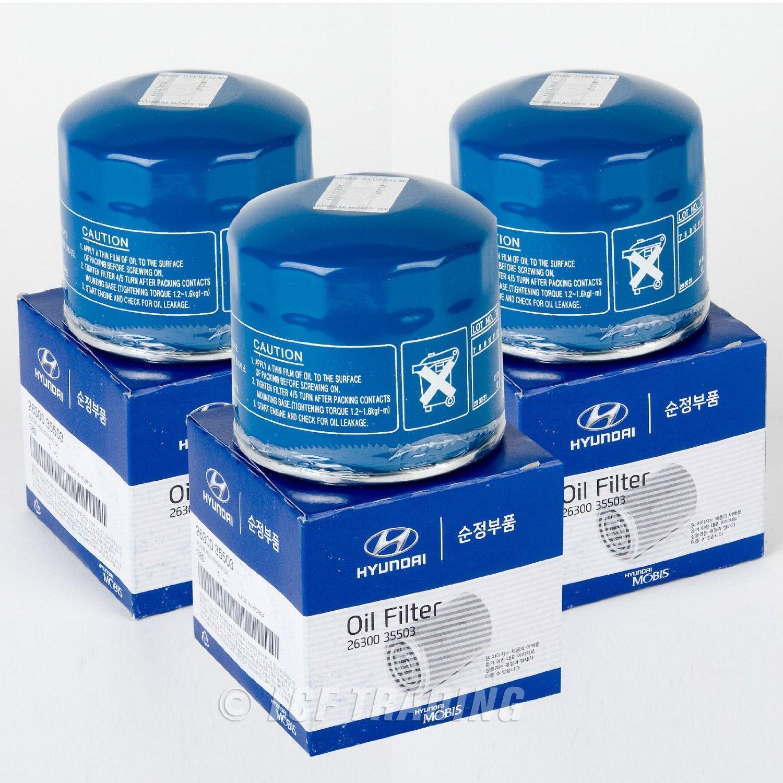 Set of 3 Spectra forte Rio Kia//Hyundai 26300-35503 Engine Oil filter for Kia soul Optima Rondo sportage rio5