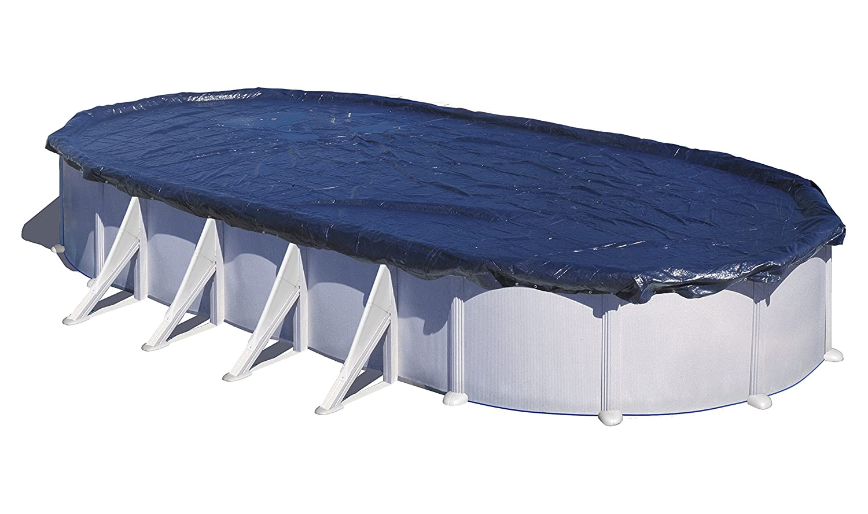 GRE CIPROV731 Bâche Hiver pour Piscine Ovale 820 x 460 x 0.2 cm Bleu