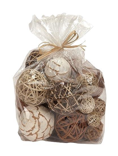 Amazon Bag Of Natural Fiber Decorative Balls Spheres Orbs Home Classy Natural Decorative Balls