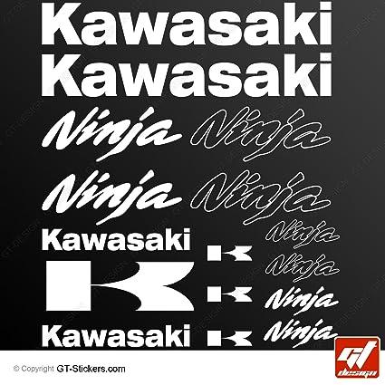 Stickers KAWASAKI NINJA-blanco-Tabla de 16 unidades ...