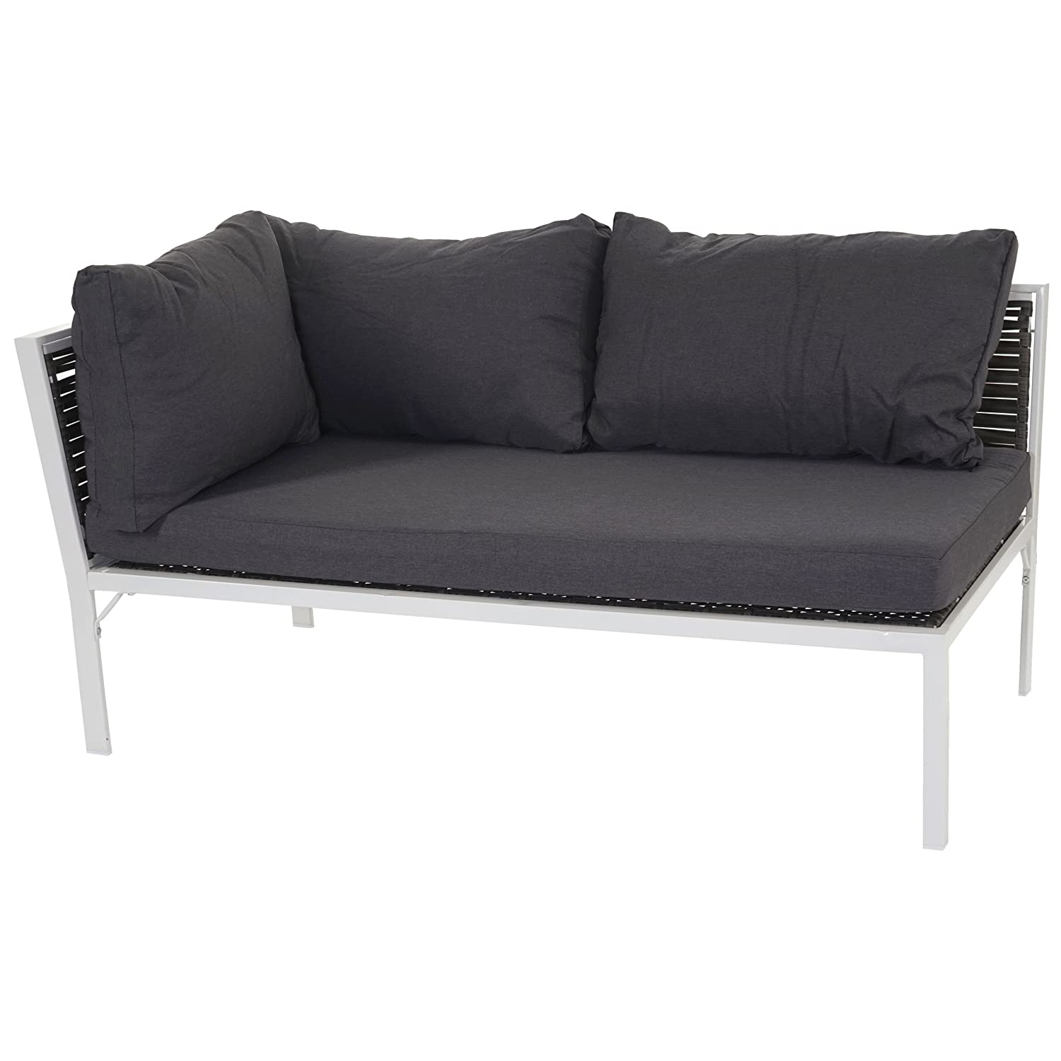 poly rattan sofa delphi 2er ecksofa alu kissen anthrazit links g nstig. Black Bedroom Furniture Sets. Home Design Ideas
