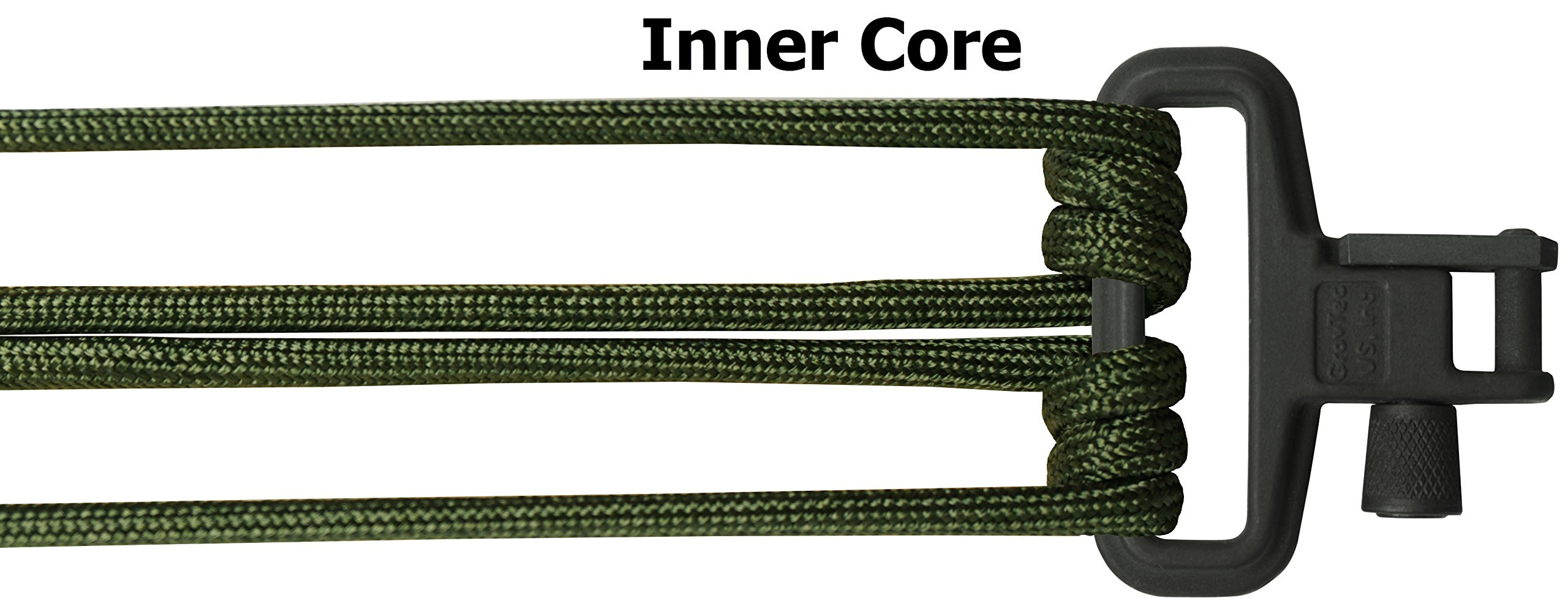TOUGH-GRID Backbone(TM) Paracord Rifle Sling - Gun Sling/Rifle Sling - Handmade in The USA with Authentic Mil-Spec 750lb Type IV Paracord and Mil-Spec Swivels (BackBone70CGBoa) by TOUGH-GRID (Image #5)
