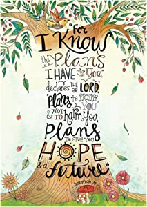 Creative Teaching Press Wall Décor, Religious Jeremiah 29:11 Rejoice Inspire U Poster (2303)