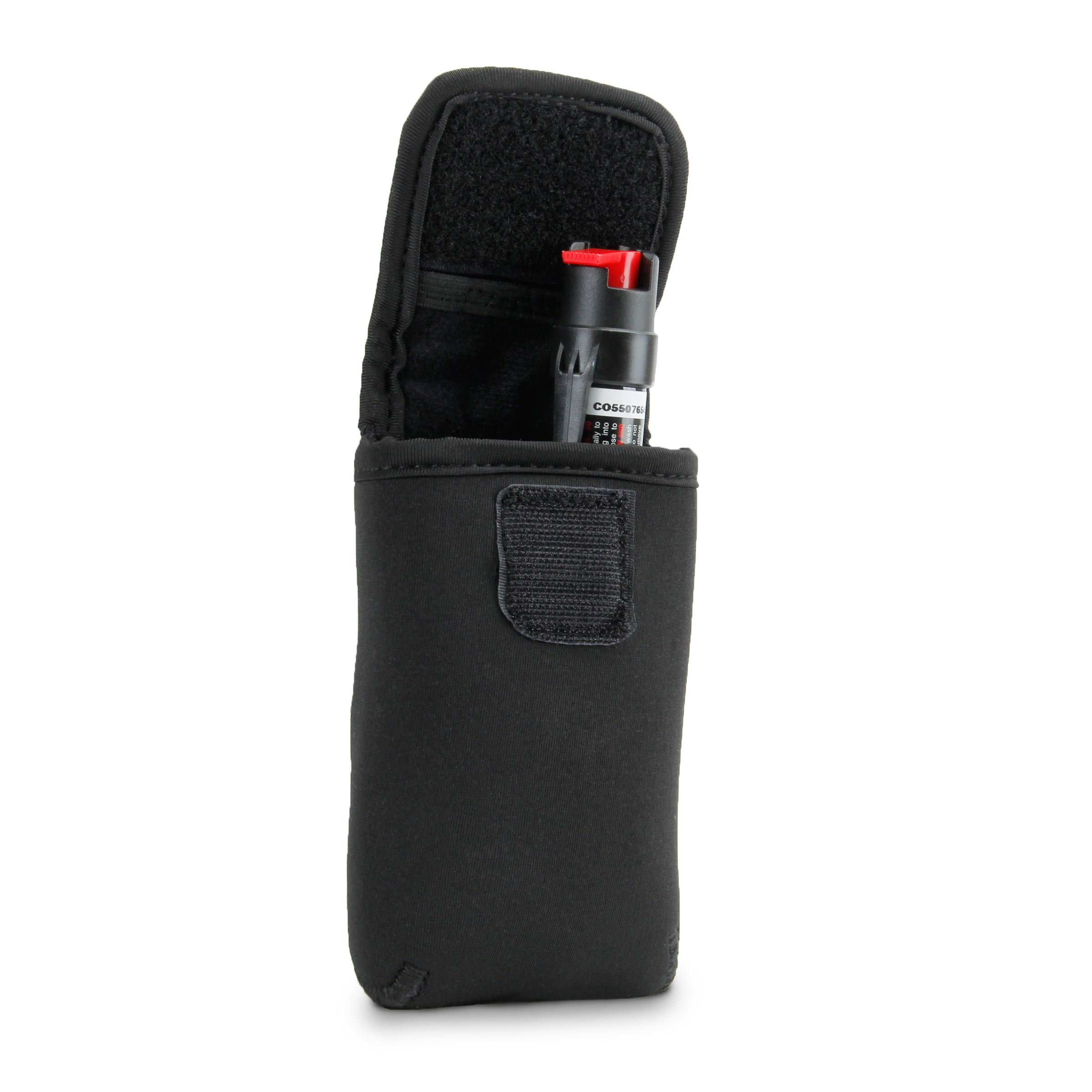 Pepper Spray Mace Carrying Holster Belt Loop by USA Gear - Stores SABRE 3-IN-1 Pepper Spray , Police Magnum OC Pepper Spray , Mace Pepper Gel and More by USA Gear
