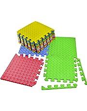 VViViD Interlocking Multi-Color EVA Foam Floor Mat 12 Tile Pack