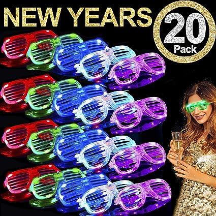 Amazon.com: TURNMEON 20 unidades de gafas LED, 5 lentes de ...