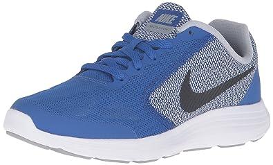 c89339ce7d14a Nike Kids Revolution 3 (GS) Running Shoe (4 B(M) US, GAME ROYAL BLACK WOLF  GREY WHT)