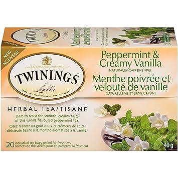 Twinings Tea Herbal Peppermint and Creamy Vanilla 20 Individual Tea  Bags/Net Wt  1 41oz