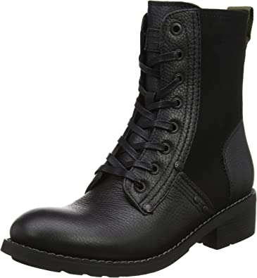 G STAR RAW Labour Boot, Bottes Motardes Femme, Noir (Black
