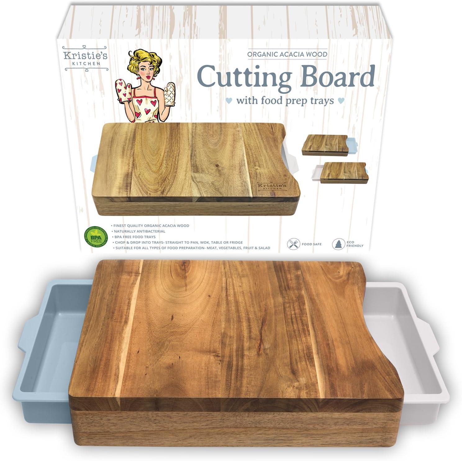 Tagliere con Contenitore Tagliere legno in acciaio Organico Tagliere antibatterico Funziona anche come Tagliere carni Tagliere pani o Tagliere