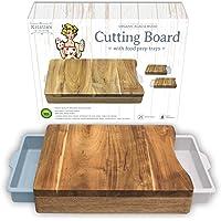 Tagliere con Contenitore - Tagliere legno in acciaio - Organico - Tagliere antibatterico - Funziona anche come Tagliere carni Tagliere pani o Tagliere formaggi