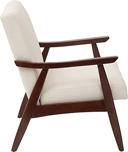 ModHaus Living Mid Century Modern Wood Fabric Upholstered Accent Arm Chair