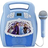 Adjustable Holder with Flashing Stage Lighting and Pedals Connect to Mobile Phone Single Microphone Karaoke Singing Childrens Musical Toy