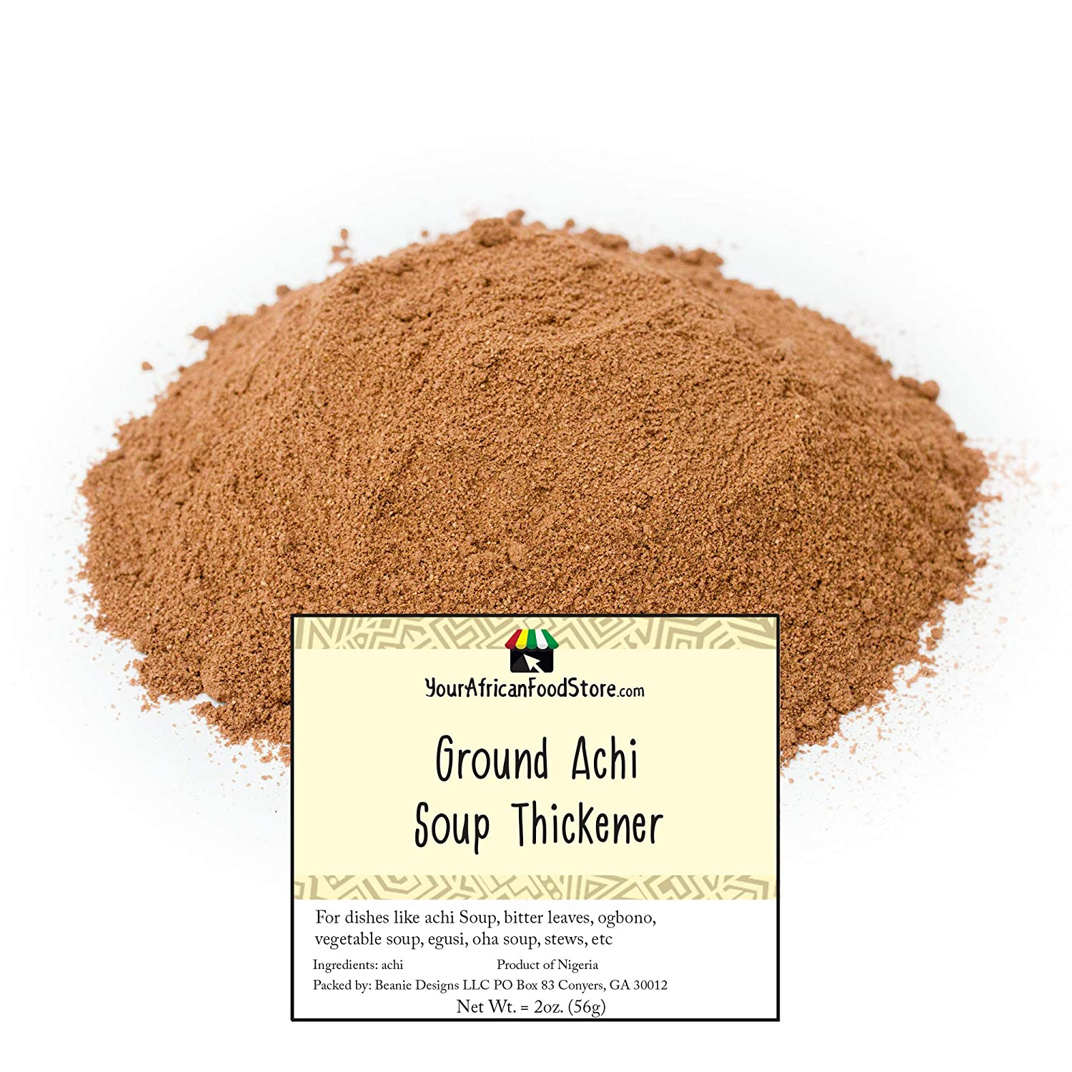 Ground Achi Soup Thickener, African Soup Thickener (100g / 3.5oz)