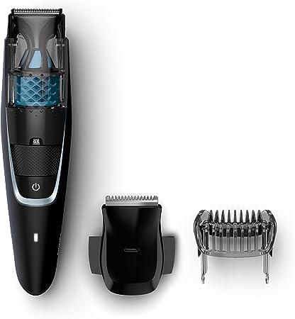 Philips Serie 7000 BT7201/16 - Barbero con sistema de aspiración, para barba, bigote y patillas, peine-guia, ac / batería, negro