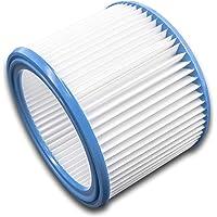 vhbw dammsugarfilter kompatibelt med Nilfisk/Alto/Wap Aero 20, 21, 25, 26, 31 dammsugare – runt filter