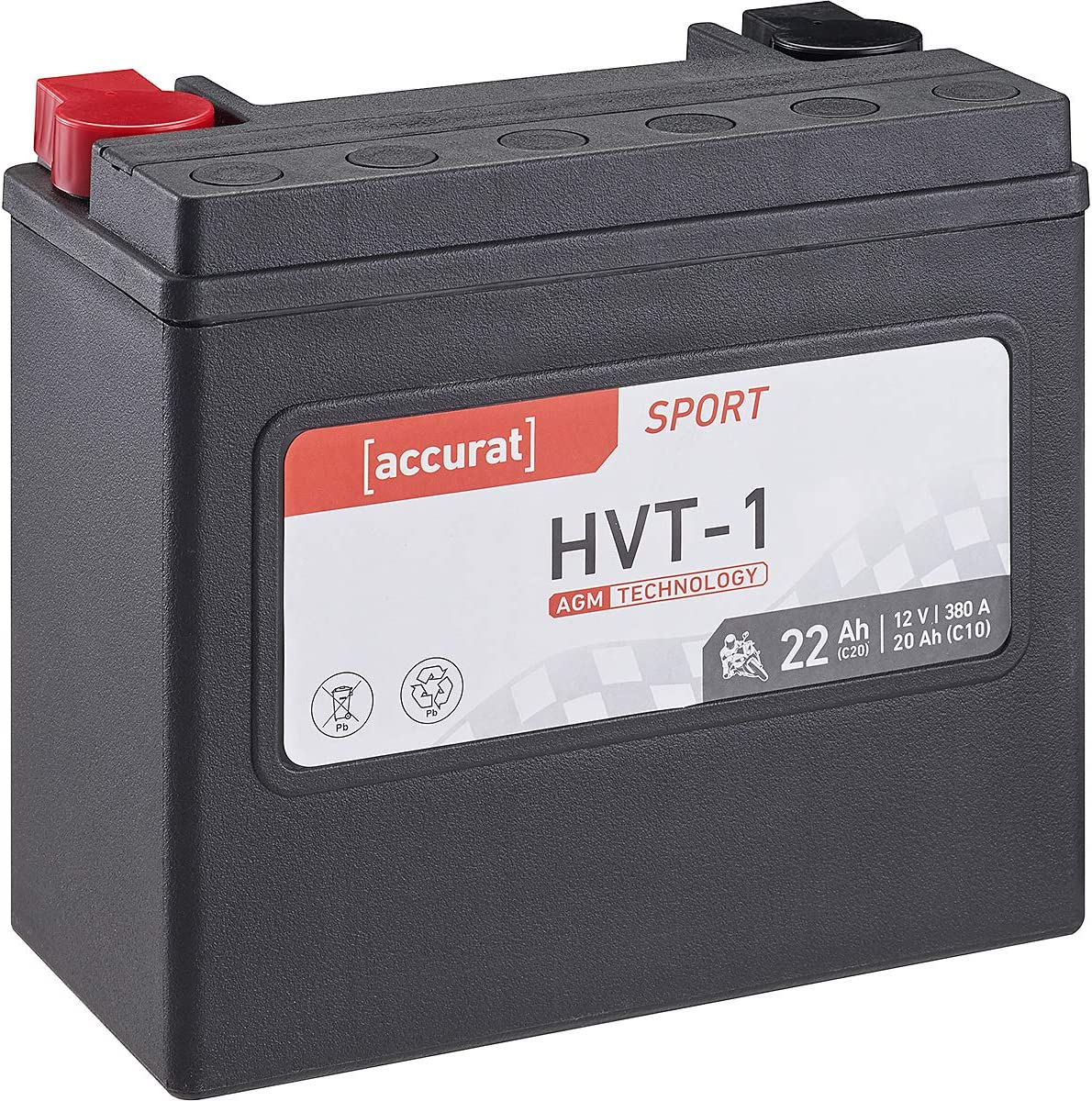 YTX14L-BS Accurat Motorrad-Batterie HVT-3 16Ah 12V 240A AGM SLA Starterbatterie wartungsfrei