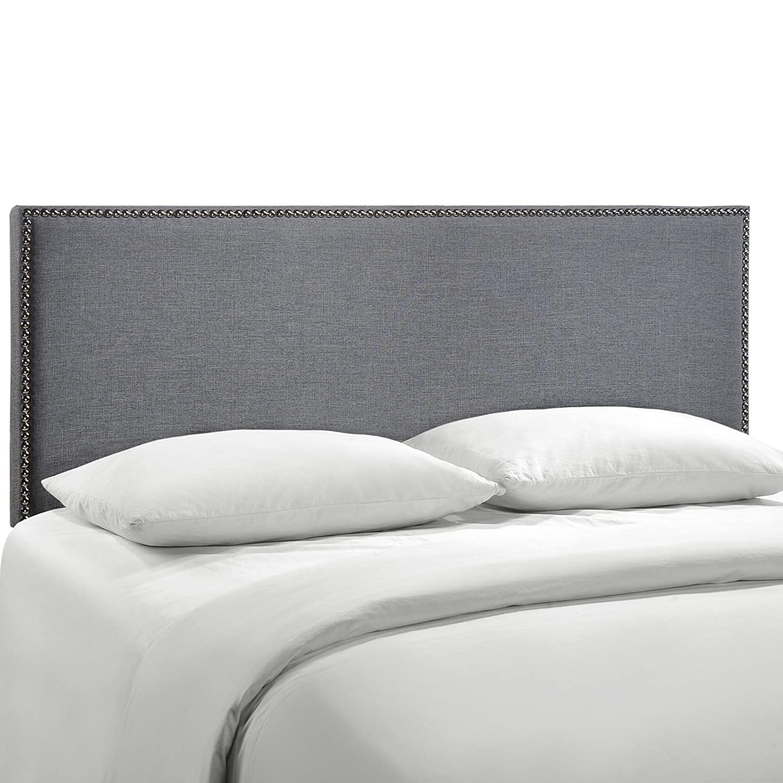 Smoke Queen Modway Region Nailhead Upholstered Headboard, Twin, Ivory