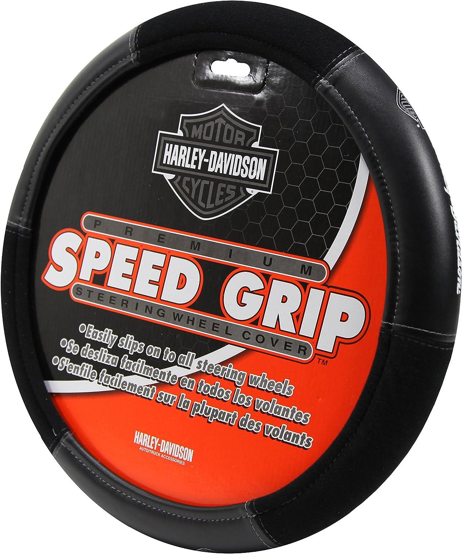 Harley Elite Series Speed Grip Plasticolor 006733R01 Black Steering Wheel Cover