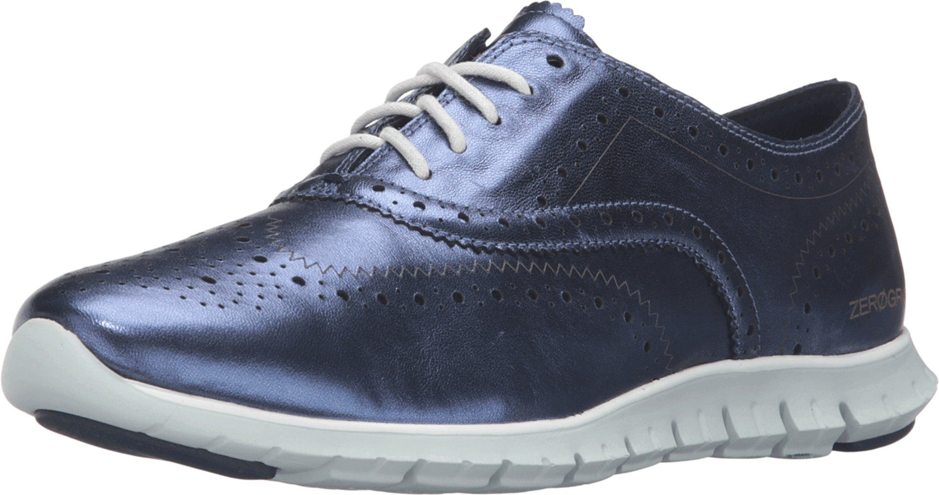 Cole Haan Women's Zerogrand Blazer Blue Wingtip Oxford, Size 6B US
