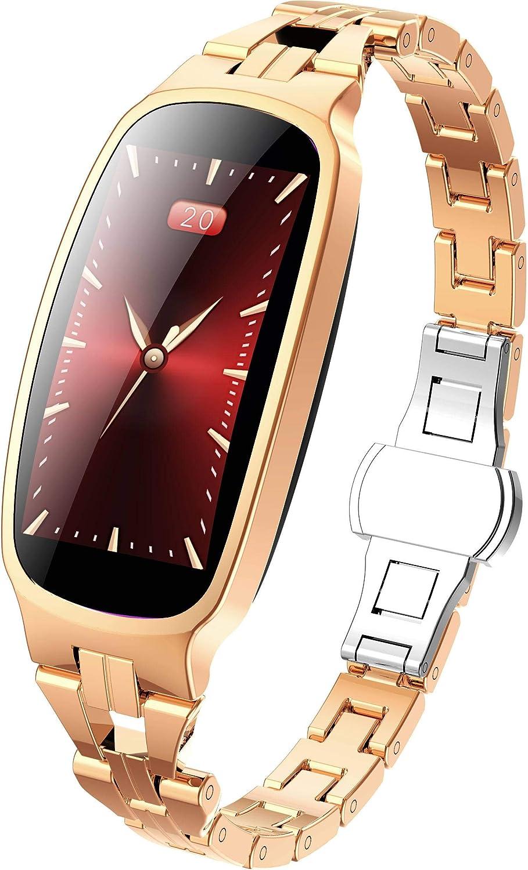 Metal Reloj Inteligente Mujer , IP67 Smartwatch 9 Modos De ...