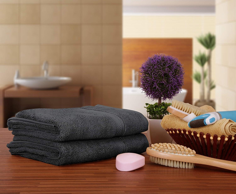 Utopia Towels - Toalla de mano Set - 700 GSM Algodón (41 x 71 cm, Set de 4, gris): Amazon.es: Hogar