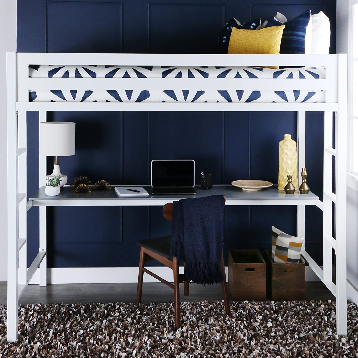 White Bunk Beds With A Desk - Top Bunk Beds Review