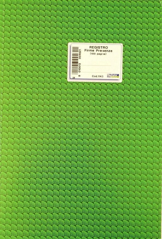 Data Ufficio 147040 Registro Firme Presenza, 100 Pagine Data Ufficio S.P.A.