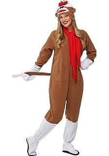 c00bd579cc Amazon.com  Sock Monkey Adult Costume