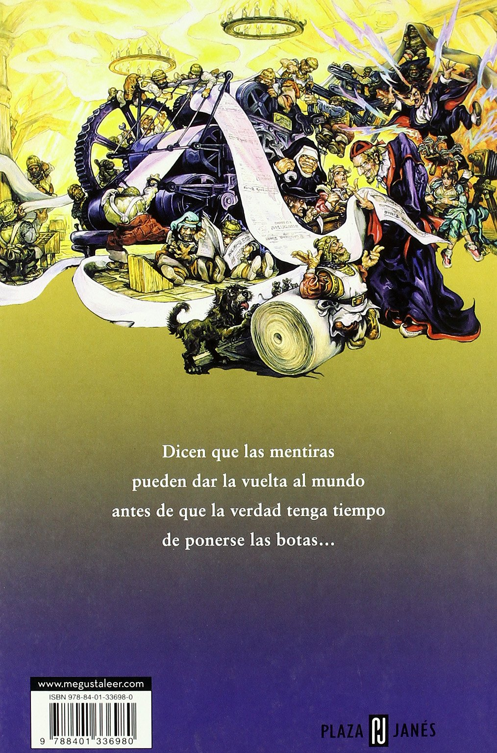 Amazon.com: La verdad / The Truth: La XXV novela del Mundodisco / The XXV Novel of Discworld (Mundodisco / Discworld) (Spanish Edition) (9788401336980): ...